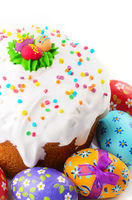 Easter eggs and cakes