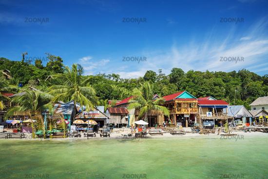 koh rong island main village in cambodia