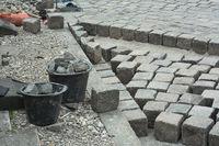 Road Construction with Cobblestone
