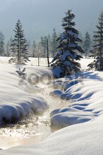 Winterlandschaft in Bayern