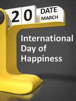 Vintage Calendar International Day of Happiness