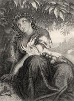 Philine, scene from Wilhelm Meister's Apprenticeship, a novel by Johann Wolfgang von Goethe