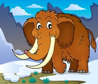 Mammoth theme image 1 - picture illustration.