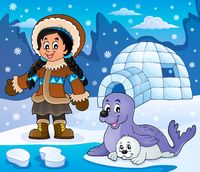 Arctic theme image 6 - picture illustration.