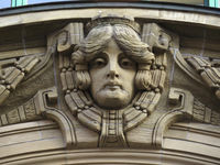 Fassadendetail in Hamburg