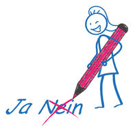 Stickwoman Pen Ja Nein