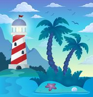 Tropical island theme image 5 - picture illustration.