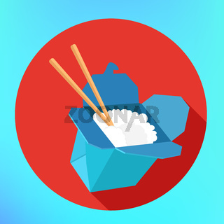 Rice wok carton box chopsticks