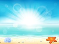 Beach theme image 2 - picture illustration.