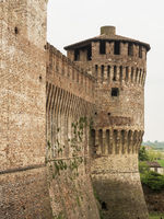 Soncino medieval castle view in Italy