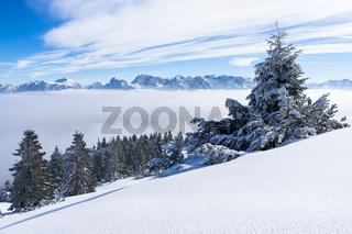 Winterlandschaft am Wank