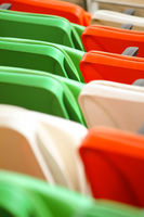 Tricolor chairs in the stadium
