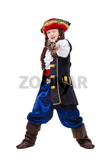 A funny boy dressed as pirate