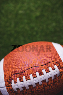 Close up of rugby ball