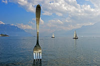 Sculpture The Fork, Vevey, Switzerland