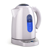 White electric kettle isolated on white.