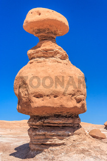 Hoodoo Rock pinnacles in Goblin Valley State Park Utah USA