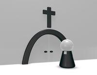 geistlicher und christliches kreuz - 3d illustration