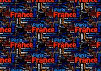 Terror France Paris Red