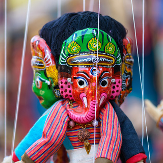 Traditional Nepalese puppet
