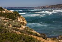 The rocky coast of the Algarve