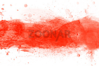 Red watercolor splashes of paint on canvas. Perfect for brush, design, template