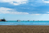 Boats returning from fishing to the port