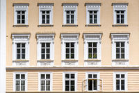 Baroque house facade in Salzburg