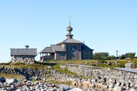 Church of St. Andrew, felled 10 days shipwright Peter the Great (1702), the Solovetsky Islands (Solovki), Russia