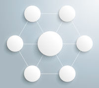 Infographic Halftone Circles Hexagon Network PiAd