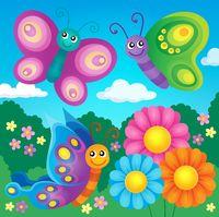 Happy butterflies theme image 4 - picture illustration.