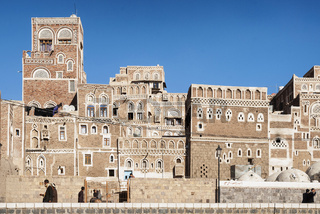 central sanaa city in yemen