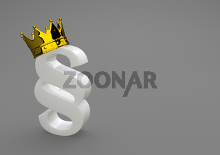 White Porcelain Paragraph With Golden Crown