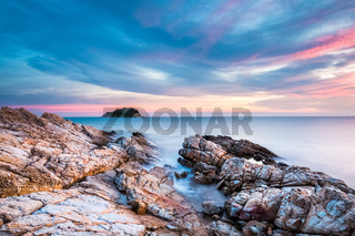 seascape in sunset