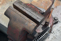 Bench Vise Made of Cast Iron