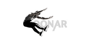 Portrait of sportsman jumping