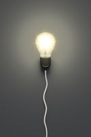light bulb on a grey background