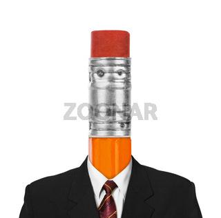 Pencil instead head