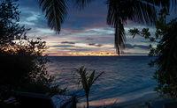 Maledeven am Morgen, Sonnenaufgang