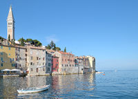 Village of Rovinj in Istria at Adriatic Sea,Croatia