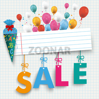 Back to School Banner Balloon Sale