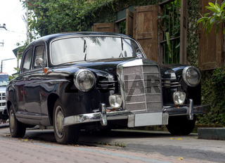 mercedes-benz in the streets of Chiang Mai, Thailand,