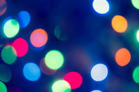 Bokeh Background.  Holiday glowing Abstract Defocused Background With Blinking Lights. Blurred Bokeh. Retro Color Vintage photo