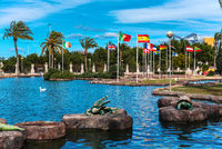 Park of Nations in Torrevieja city. Alicante, Spain