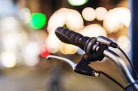Fahrradlenker Nachtaufnahme