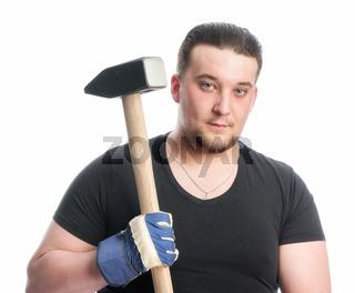 arbeiter mit vorschlaghammer