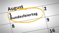 federal holiday first of august in german language