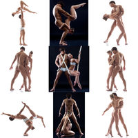Nude. Photo set of sensual acrobats posing in pair