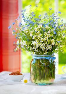 Spring wild flowers  bouquet .