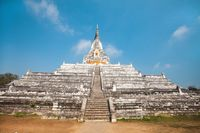 part of the ruin of Wat Phu Khao Thong in Ayutthaya Thailand